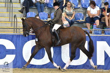 Rachel Wessel from Clonbinane in Victoria rode her well performed Hunter and dressage horse, 'Bella Rossa' to take fifth place in the Sydney Solvents Grand National Large Show Hunter Championship.