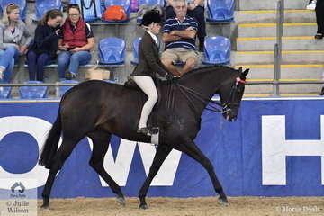 Daizi Plumb rode Dale Plumb and Ray McDonald's, 'DP Gisele' to fifth place in the SJM Equine Grand National Small Hack Championship.