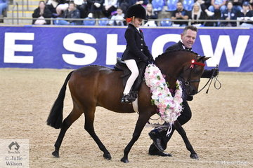 Ava Nusbajtel's, 'Final Call of Priory' was declared Michelle Labahn and Associates Grand National Champion Leading Rein Pony and at the end of a long show took out the Imperial Stud Mini Championship.
