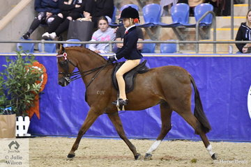 Charli Sabine from Pukekohe in New Zealand rode her 'Dunelm First Impression' to claim the Westgrove Racing Pty Ltd Grand National Rider 6 AU 9 Years Championship.