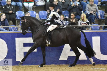 Courtney Larard from Windella in NSW rode , 'F1 Sweetest Taboo' to claim the DG Westerner Grand National Rider 30 Years and Over Championship. Courtney went on to be declared J and R Equestrian Grand Champion Rider.
