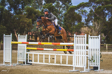 James Harvey and Tyrone VDL always a strong combination in Saturday's 135cm class.