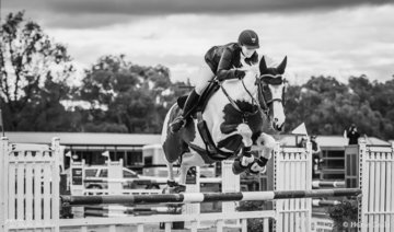 Something a little different a monochrome image of popular Victorian rider Kate Beadel from Nar Nar Goon who recently had a near miss from the catastrophic Bunyip bushfires on the beautiful Stephen Smith owned and bred Lilly Elmare in Sunday's Future Stars Championship. Great to see you out and about Kate!
