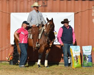 Johnsons Natural Feed Open Derby Champion Wayne Hinder and Little Flashy Rey, Michell Hinder and Ryan Jellesma Photo Credit Michelle Hinder