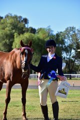 Hannah Hawker was delighted to win Champion Senior Handler with her Spo