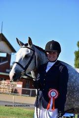 Cassandra Evans was awarded Reserve Champion Senior Handler, showing K. Rose's horse, Eclipse.