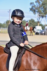 Jakalia Ware won her Tiny Tot Rider 4yrs and under 6yrs class.