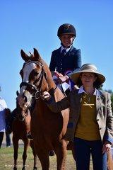 Judge Julie Vandyke awarded Champion Beginner Mount & Rider Combination to Sophie Ziola and Dude.
