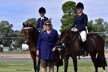 Judge Annie Williams awarded Champion Galloway Hack to the Smart Family's Euston Musician, ridden by Kym Kelly, with Reserve Champion going to Lara Bennett's Harrington Park Sugar Doll.