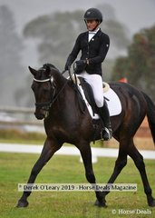"Bessie Dimmery in the CCI2*S riding ""Sandhills Style"""