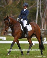"""Genevieve Nicholson in the CCI2*S riding """"Jayay Dom Perignon"""""""