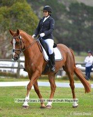 "Georgina Birrel in the CCI*L riding ""Marlborough View"""