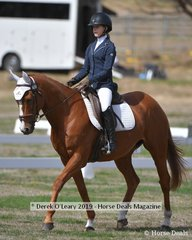 "Nellie Rogers in the EVA95 Interschools riding ""Rocket Rod"""