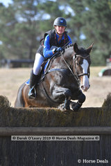 """Kristen Lenne placed 2nd in the EVA95 Section A riding """"Highview Park Reload"""" with a final score of 29.20"""