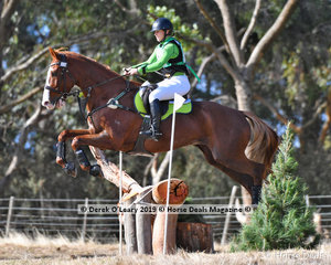 "Winner of the EVA95 Section A, Maureen McGrath riding ""Yarramee Bam Bam"" with a final score of 28.70"
