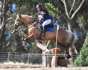 """Tara Fuller in the EVA95 Section A, placed 6th riding """"Davien Park Solei Rex"""" witha final score of 35.00"""