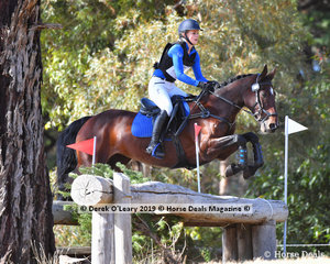 """Kate Barton riding """"Teasing To Please"""" in the EVA95 Section B"""