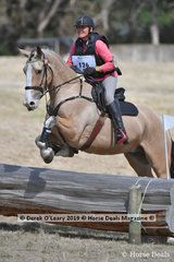 "Leading in the EVA80 Section A after Cross Country, Rachael Keeton riding ""Hunter"", with Showjumping still to go on Monday"