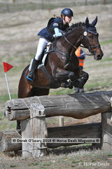 """Cecilia Clements in the CCN1* S Interschools placed 4th riding """"Jirrima Anchorman"""" with a final score of 37.50"""
