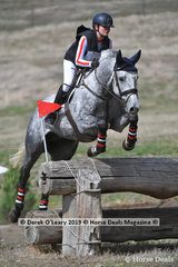 """Winner of the CCN1*S Interschools, Amy Gotts-Wheeler from St Pauls Anglican Grammar, riding """"Sharvalley Thunder"""" with a winning score of 30.00 finishing on her dressage score"""