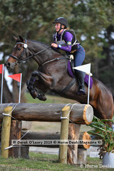 "Amy Veenendaal in the CCI1*L riding ""Heatherton Park Jetstar"""