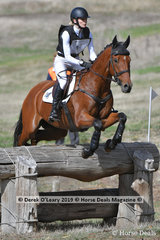 """Alex McDonough riding """"Joie Du Lys"""" is sitting in 1st place after Cross country, with still tommorows Showjumping phase to conquer."""