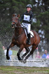 "Charlotte Flood exits the Water riding ""Collude With Me"" placing 4th in the CCI2*S with a final score of 36.60"