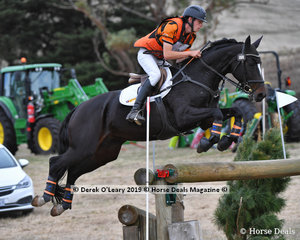 "Samuel Jeffree riding ""Woodmount Lolita"" in the CCI** S"