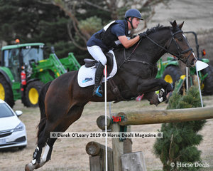 """Winner of the CCI2*S, Andrew Cooper riding """"WG Orlando"""" with a final score of 31.50, finishing on his dressage score, with no jumping or cross country penalties."""