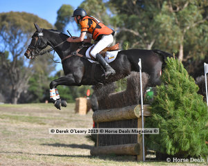 """Samuel Jeffree rode """"Jaybee Calypso"""" in the CCI3* placing 3rd with a final score of 73.80"""