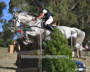 """Winner of the CCI3*S, Sophie Doake riding """"Grandjany"""" with a final winning score of 36.10"""