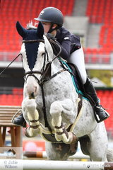 Sophie Hatch from Middle Brook in NSW rode her, 'Rosthwaite Belvedere' to win the  the Junior Table C, the first jumping class of the 2019 Sydney Royal Easter Show.