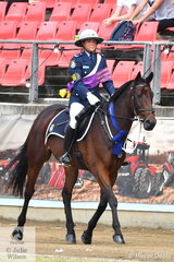 There was a large police presence at the Sydney Royal Easter Show today and Senior Constable Esther Vass took out the Don Rowland Perpetual Trophy donated by the Picken Family for Best Turned Out Mounted  Trooper, Horse  and Gear with some help from 'Royal'.