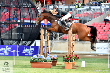 William Dight from Yetman in NSW rode his, 'Thea' to fifth place in the Young Rider Table C.