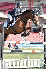 Jess Tripp rode, 'Diamond B Verona' by Vivant to take third place in the Young Rider Table C.