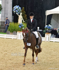 """Melissa Oven and """"Laser Encore"""" pictured working out in The O'CONNOR FAMILY Owner/Rider Large Open Galloway event."""