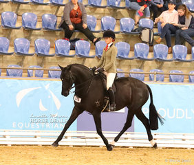 """The STAFFORD FAMILY Champion Owner/Rider Small Show Hunter Hack """"Zena PPH"""" ridden by Ebony Lee."""