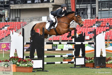 Jessica Tripp rode her 'Diamond B Verona' by Vivant to win the Young Rider jump off class this morning.