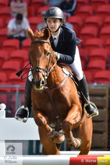 Tori Cureton rode her, 'Double The Bank' to take second place in the Junior Jump Off class.