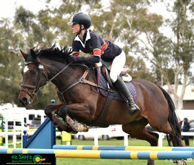 Flying over the 1.20m fences with ease on the first day of the 2019 Victorian Interschool State Championships was Mighty Tosca with Stephanie Ivanovic in the saddle.