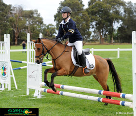 Representing Chairo Christian School in the Combined Training 45cm was Montannah Growcott and her pony Vichand I Told You So.