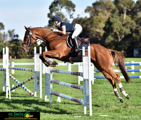 Representing Beaconhills College in the 105cm Combined Training on the second day of competition is Grace Contessi and Jordstar.