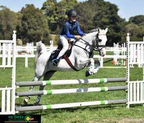 Lachlan Campbell and Jaz represented Peranbin Primary College in the 80cm Show Jumping phases at the 2019 Victorian Interschool State Championship held at the Werribee Park National Equestrian Centre.
