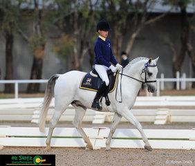 Representing Goulburn Valley Grammar School, 13 year old Nicholas Grant riding Bimbadeen Bachelor Boy a 13 year old Welsh B in the Combined Training 60cm Secondary on Wednesday at the Victorian Interschool State Championships held at Werribee Park.