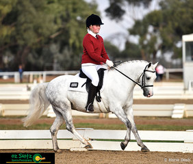 Wyann Frangelico the 4 year old Welsh B pony, broken, educated and ridden by Lucy Nelson compete their first Novice test together at the Victorian Interschool State Championship representing Moama Anglican Grammar.