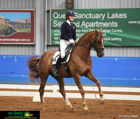 Making it look easy in the Advanced Freestyle was Isabelle Luxmoore riding Linus WK at the 2019 Victorian Interschool State Championships representing Braemar College.