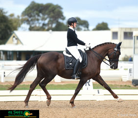 Brooke Mance and Callum Park Freya performed the winning Prix St George dressage test with a score of 66.103% on the second last day of the Victorian Interschool State Championships held at the Werribee Park National Equestrian Centre.