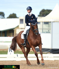 Making it look easy, Jazi French and Florinzz made a perfect team scoring 65.441% in the Prix St George test at the 2019 Victorian Interschool State Championships.