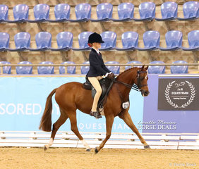 """Working out in The CBC CONSTRUCTIONS Child's Open Medium Pony is """"Bevanlee Encore"""" and Matilda Phillips."""