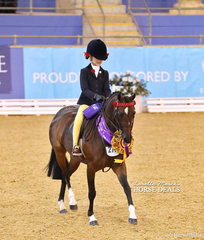"TheCBC CONSTRUCTIONS Champion Child's Open Medium Pony ""Hibrie Sugar Plum"" and Annabelle Richardson."